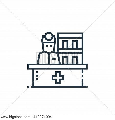 receptionist icon isolated on white background from medical services collection. receptionist icon t