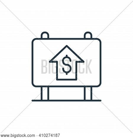 real estate icon isolated on white background from retirement collection. real estate icon thin line