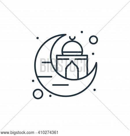 ramadan icon isolated on white background from islam and ramadan collection. ramadan icon thin line