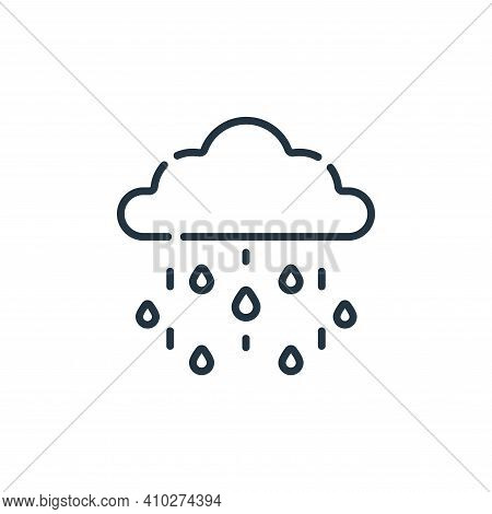 rainy icon isolated on white background from england collection. rainy icon thin line outline linear