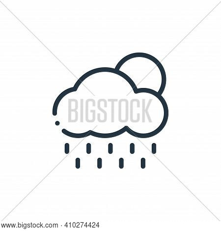rain icon isolated on white background from autoracing collection. rain icon thin line outline linea