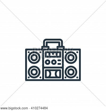 radio icon isolated on white background from stay at home collection. radio icon thin line outline l