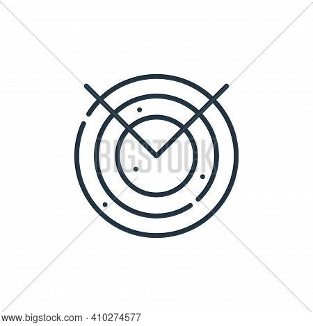 radar icon isolated on white background from hacker collection. radar icon thin line outline linear