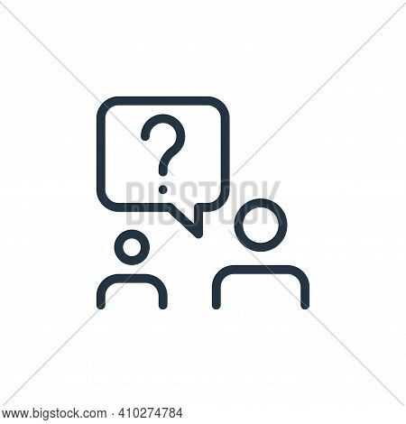 question mark icon isolated on white background from work office and meeting collection. question ma
