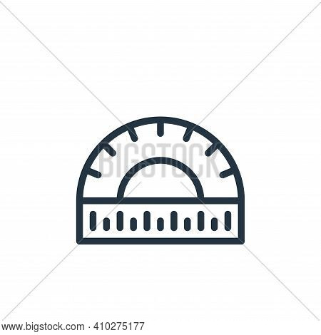 protractor icon isolated on white background from school collection. protractor icon thin line outli
