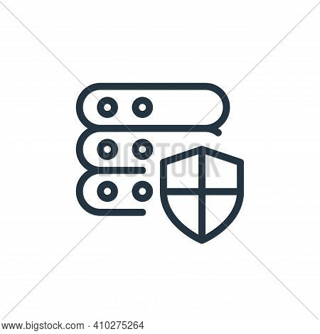 protection icon isolated on white background from work office server collection. protection icon thi