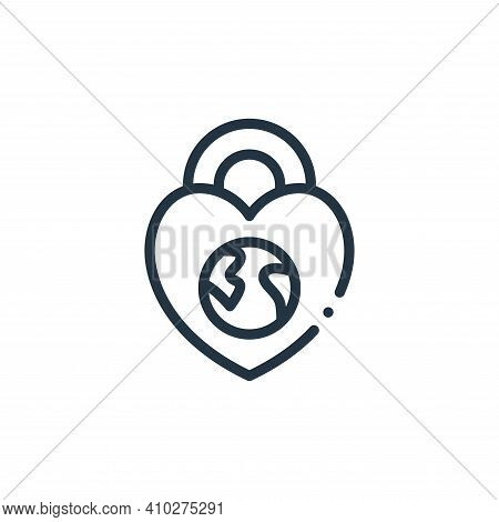 protection icon isolated on white background from world love collection. protection icon thin line o