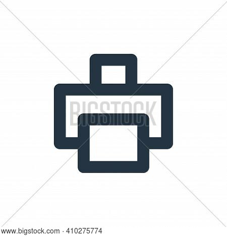 print icon isolated on white background from user interface collection. print icon thin line outline