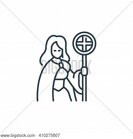priest icon isolated on white background from roleplaying avatars collection. priest icon thin line