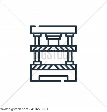 press machine icon isolated on white background from industrial process collection. press machine ic