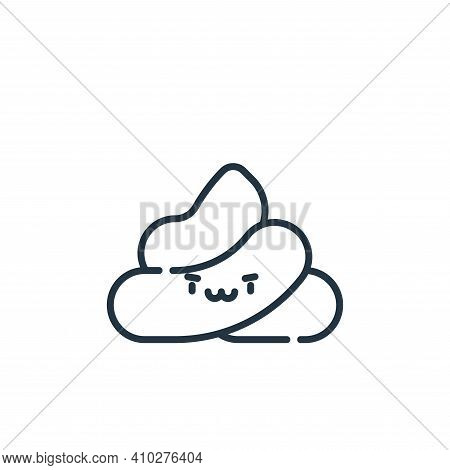 poop icon isolated on white background from pets collection. poop icon thin line outline linear poop