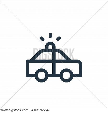 police car icon isolated on white background from emergencies collection. police car icon thin line