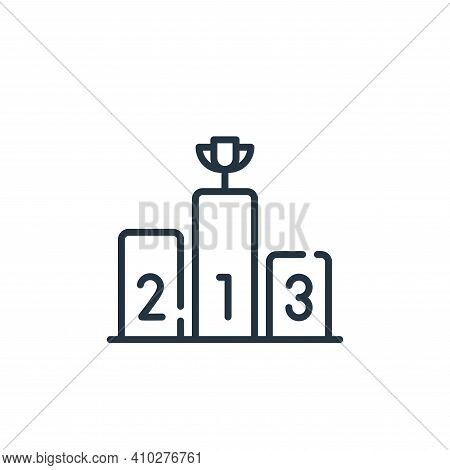 podium icon isolated on white background from fame collection. podium icon thin line outline linear