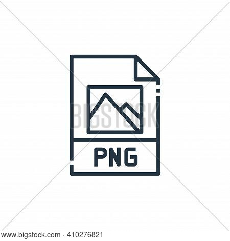 png file icon isolated on white background from file type collection. png file icon thin line outlin