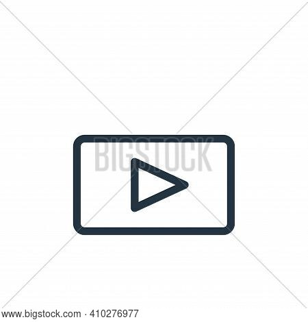 play icon isolated on white background from technology collection. play icon thin line outline linea