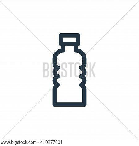 plastic icon isolated on white background from climate change collection. plastic icon thin line out