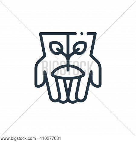 planting icon isolated on white background from in the village collection. planting icon thin line o