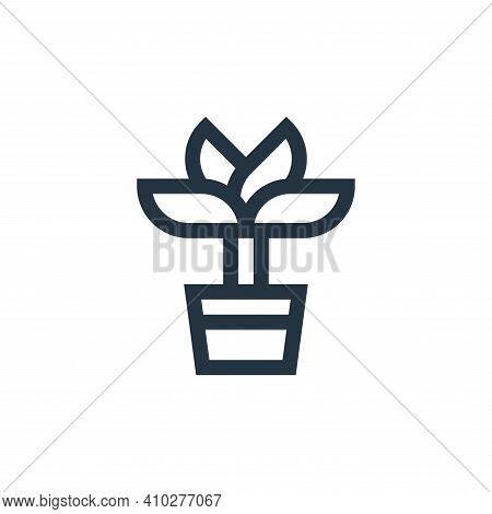 plant icon isolated on white background from mental health collection. plant icon thin line outline