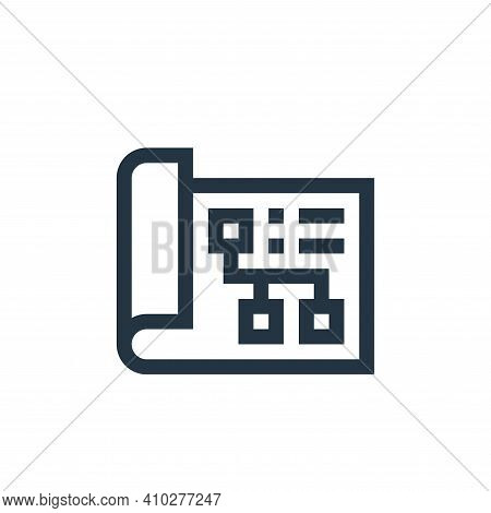 plan icon isolated on white background from industrial process collection. plan icon thin line outli