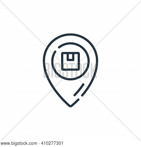 placeholder icon isolated on white background from delivery collection. placeholder icon thin line o
