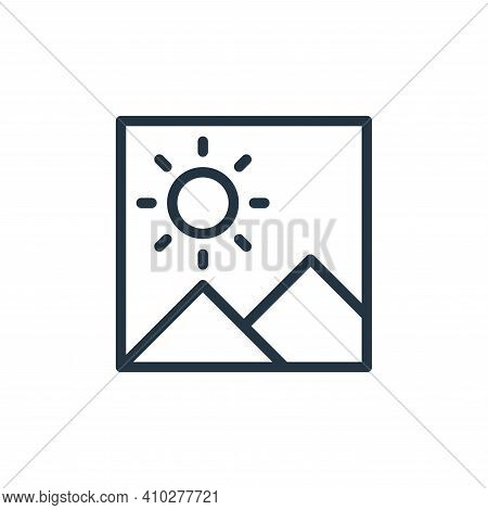 picture icon isolated on white background from miscellaneous collection. picture icon thin line outl