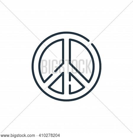 peace symbol icon isolated on white background from hope collection. peace symbol icon thin line out