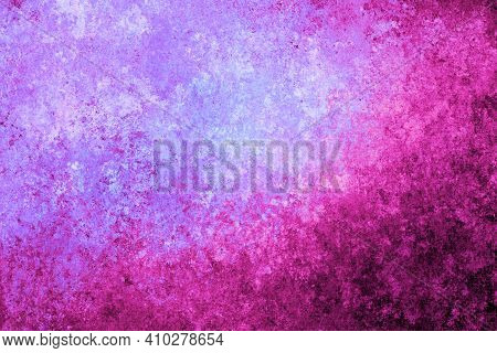Pink Magenta Lilac Violet Antique Old Background With Blur, Gradient And Watercolor Texture. Space F