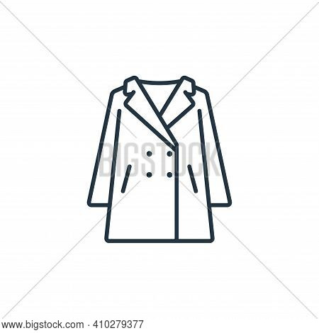 overcoat icon isolated on white background from clothes and outfit collection. overcoat icon thin li