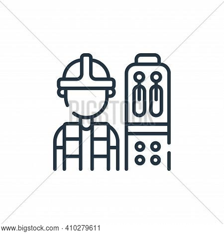 operator icon isolated on white background from industrial process collection. operator icon thin li