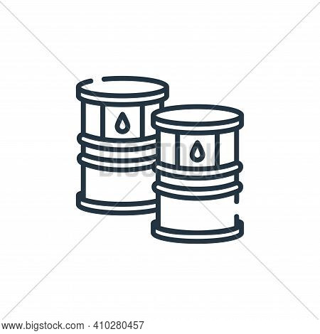 oil barrel icon isolated on white background from industrial process collection. oil barrel icon thi