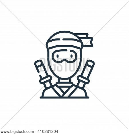 ninja icon isolated on white background from fantastic characters collection. ninja icon thin line o
