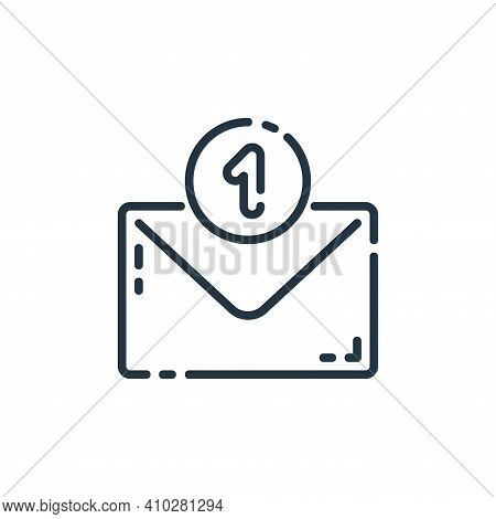 new email icon isolated on white background from user interface collection. new email icon thin line