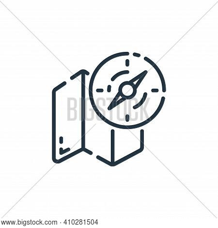 navigation icon isolated on white background from user interface collection. navigation icon thin li
