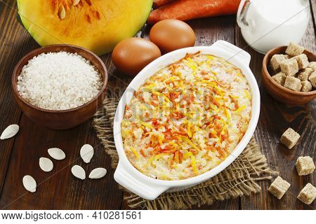 Pumpkin Casserole With Carrot And Rice