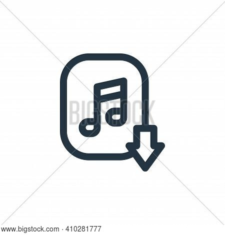 music download icon isolated on white background from music collection. music download icon thin lin