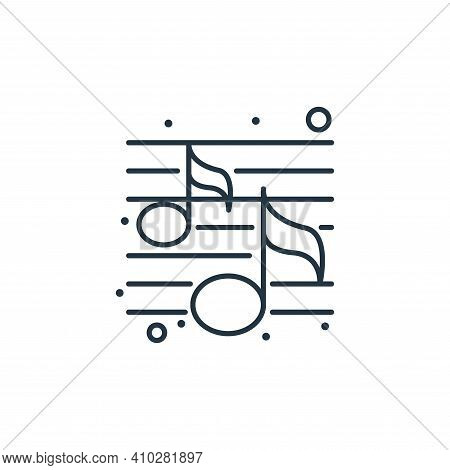 music icon isolated on white background from brazilian carnival collection. music icon thin line out