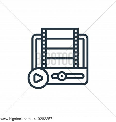 movie player icon isolated on white background from cinema collection. movie player icon thin line o