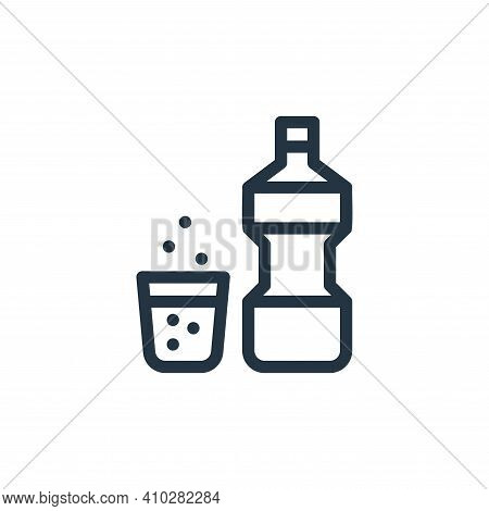 mouthwash icon isolated on white background from personal hygiene collection. mouthwash icon thin li