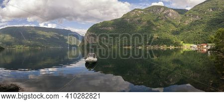 The Arnefjorden Is A Southern Branch Of The Sognefjord Which Is The Largest And Deepest Fjord Of Nor