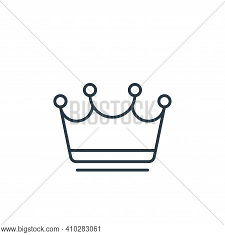 monarchy icon isolated on white background from casino collection. monarchy icon thin line outline l