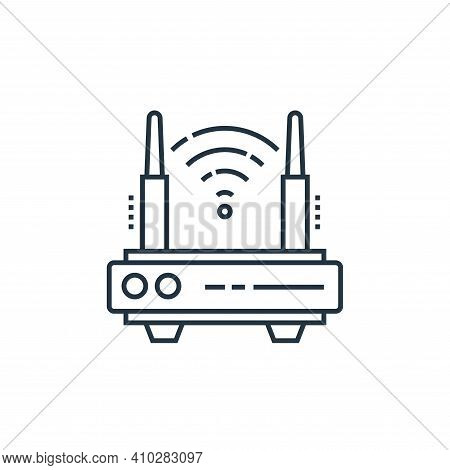 modem icon isolated on white background from technology devices collection. modem icon thin line out