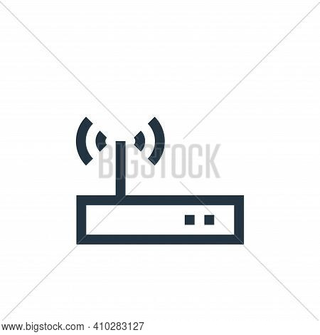 modem icon isolated on white background from job resume collection. modem icon thin line outline lin