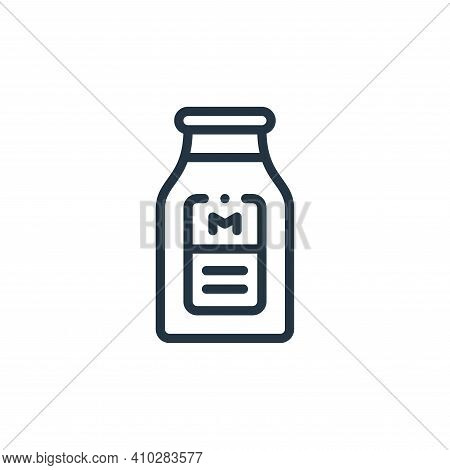 milk icon isolated on white background from smart farm collection. milk icon thin line outline linea
