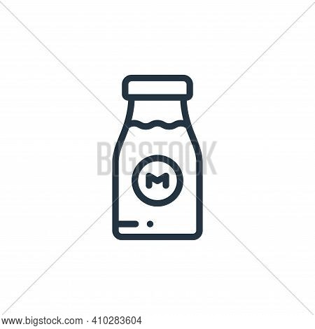 milk icon isolated on white background from holland collection. milk icon thin line outline linear m