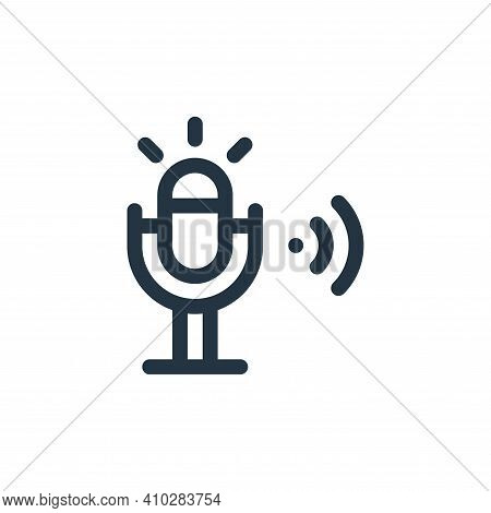 microphone icon isolated on white background from internet of things collection. microphone icon thi