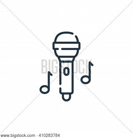 microphone icon isolated on white background from hippies collection. microphone icon thin line outl