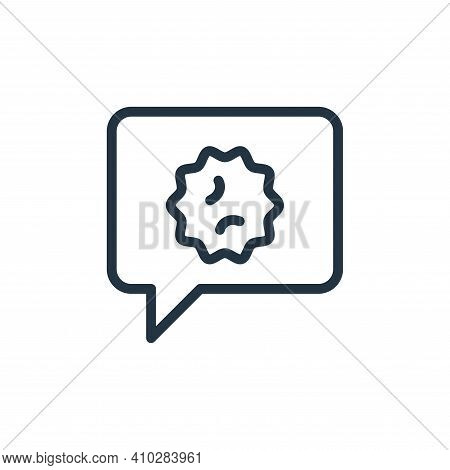 messenger icon isolated on white background from coronavirus collection. messenger icon thin line ou