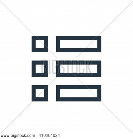 menu icon isolated on white background from web essentials collection. menu icon thin line outline l