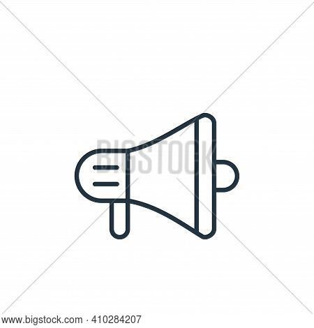 megaphone icon isolated on white background from cinema collection. megaphone icon thin line outline