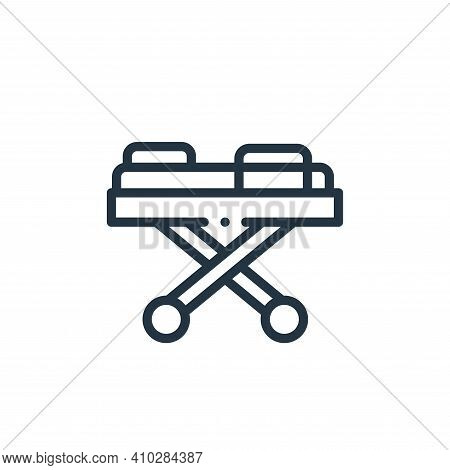 medical stretcher icon isolated on white background from medicine collection. medical stretcher icon
